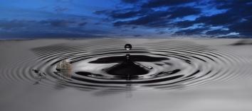 water dropwith ship w sky